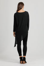 Black Merino Wool Triangle Top