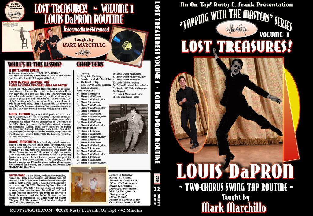 Louis DaPron's Vintage Swing Tap Routine - Tap Level: Intermediate-Advanced