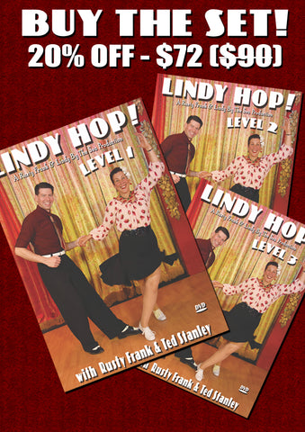 Lindy Hop Set! Levels 1-3:  Only $72  for all three with 20% discount at checkout
