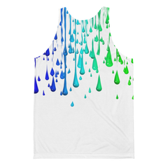 Colorful Paint Dripping Print Covered Unisex Classic Fit Tank Top