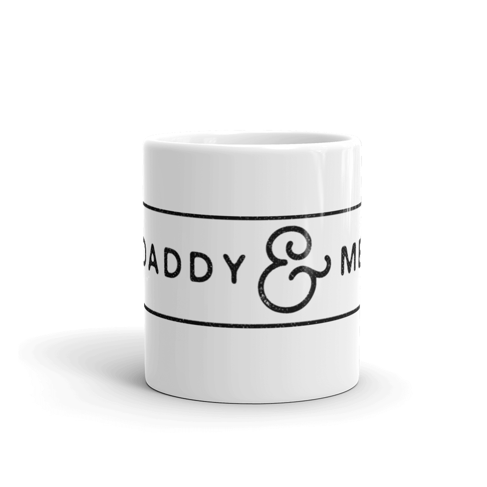 Daddy & Me Father's Day White Glossy Mug