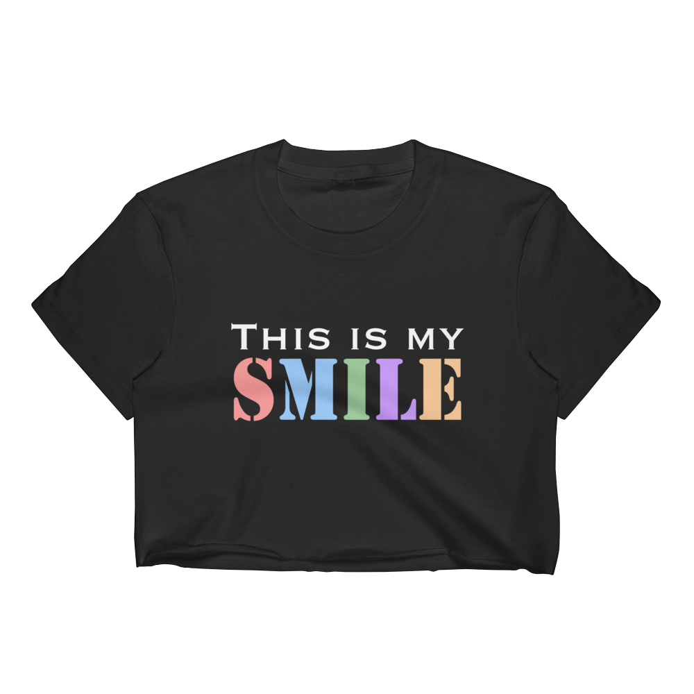 This Is My Smile Women's Crop Top