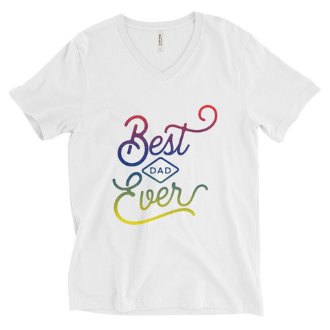Best Dad Ever Unisex Short Sleeve V-Neck T-Shirt