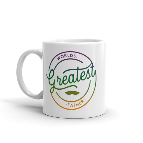 World's Greatest Father White Glossy Mug