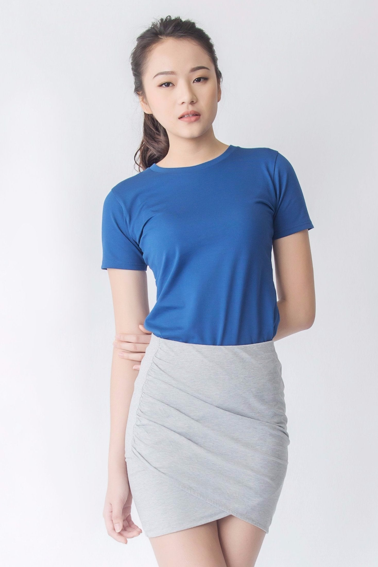 b547a801aa Supima Cotton Crew Neck T-shirt | Navy Blue | For Women - Buttonwell