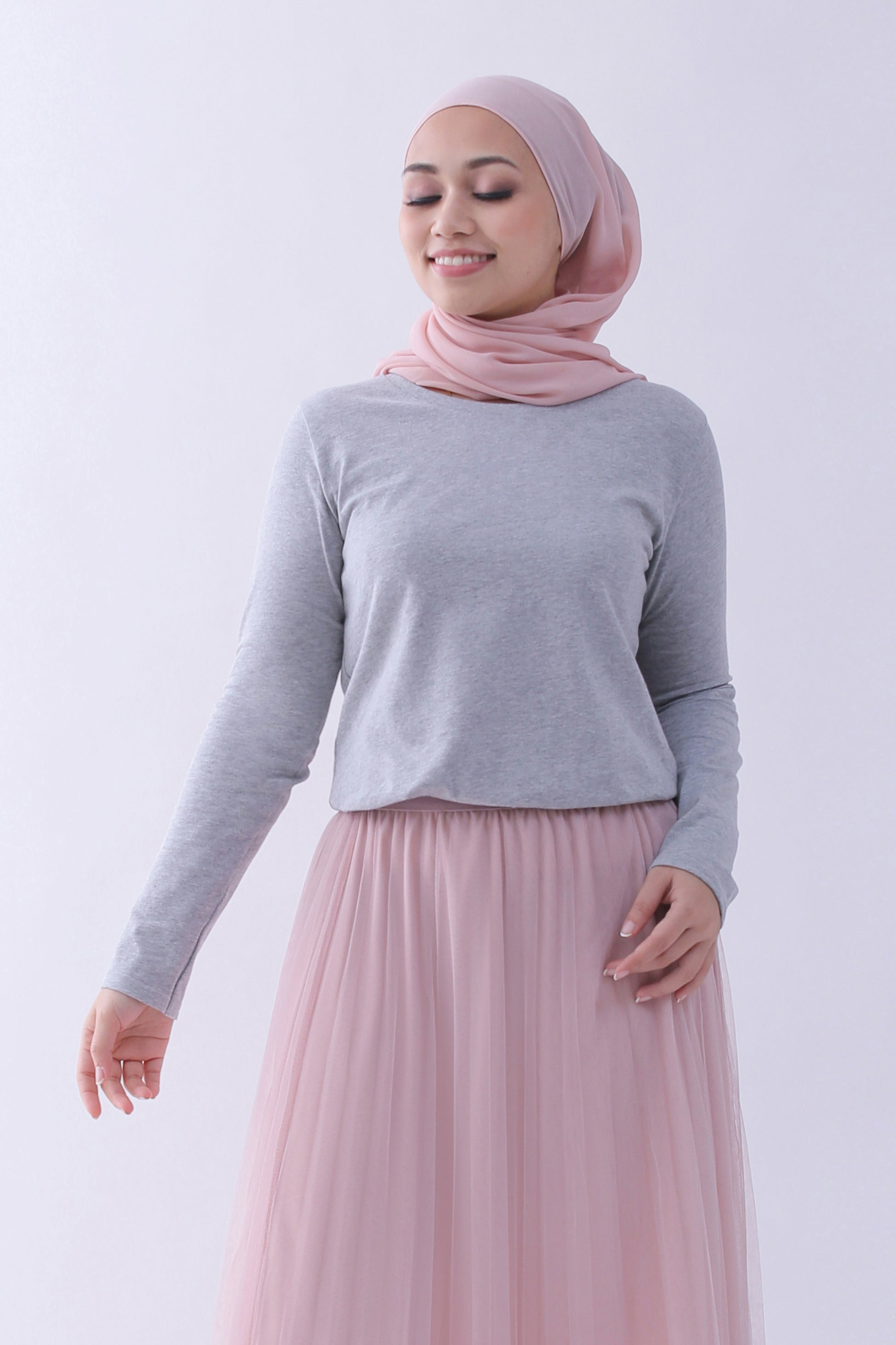 868fc6664 Supima Cotton Relaxed Cut Long Sleeve T-shirt | Heather Grey | For ...