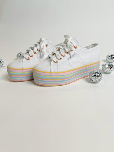 Superga White Pastel Sneakers