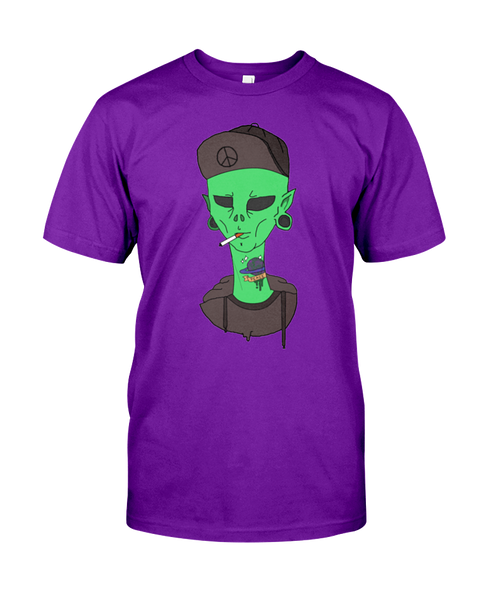 Smoking Alien T-Shirt - PsyKoNot Apparel