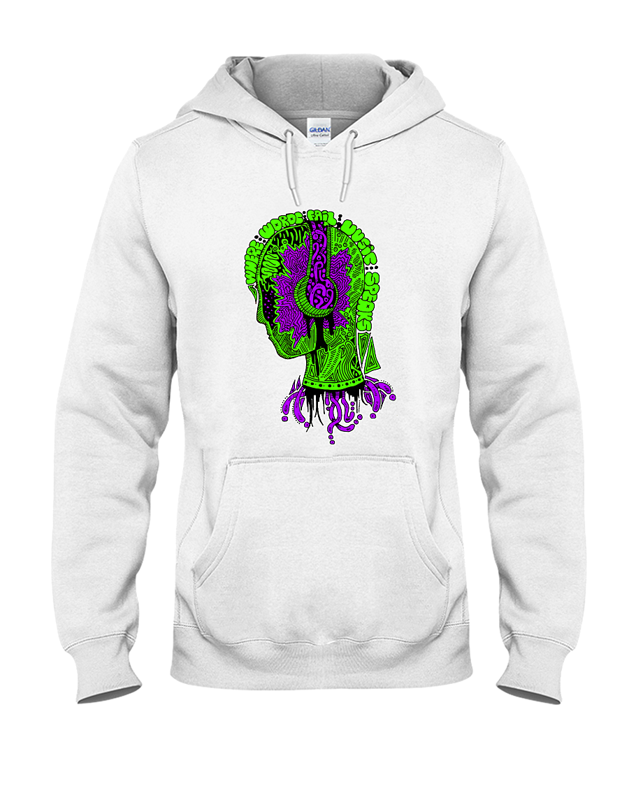 When Words Fail Hoodie - PsyKoNot Apparel