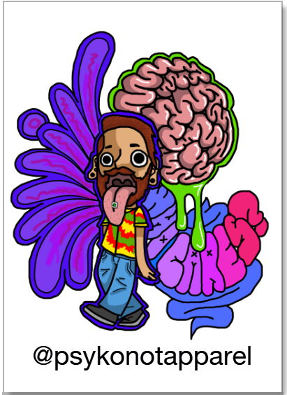 Acid Trip Sticker Portrait - PsyKoNot Apparel