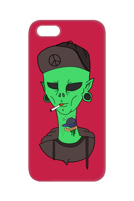 Smoking Alien iPhone Case