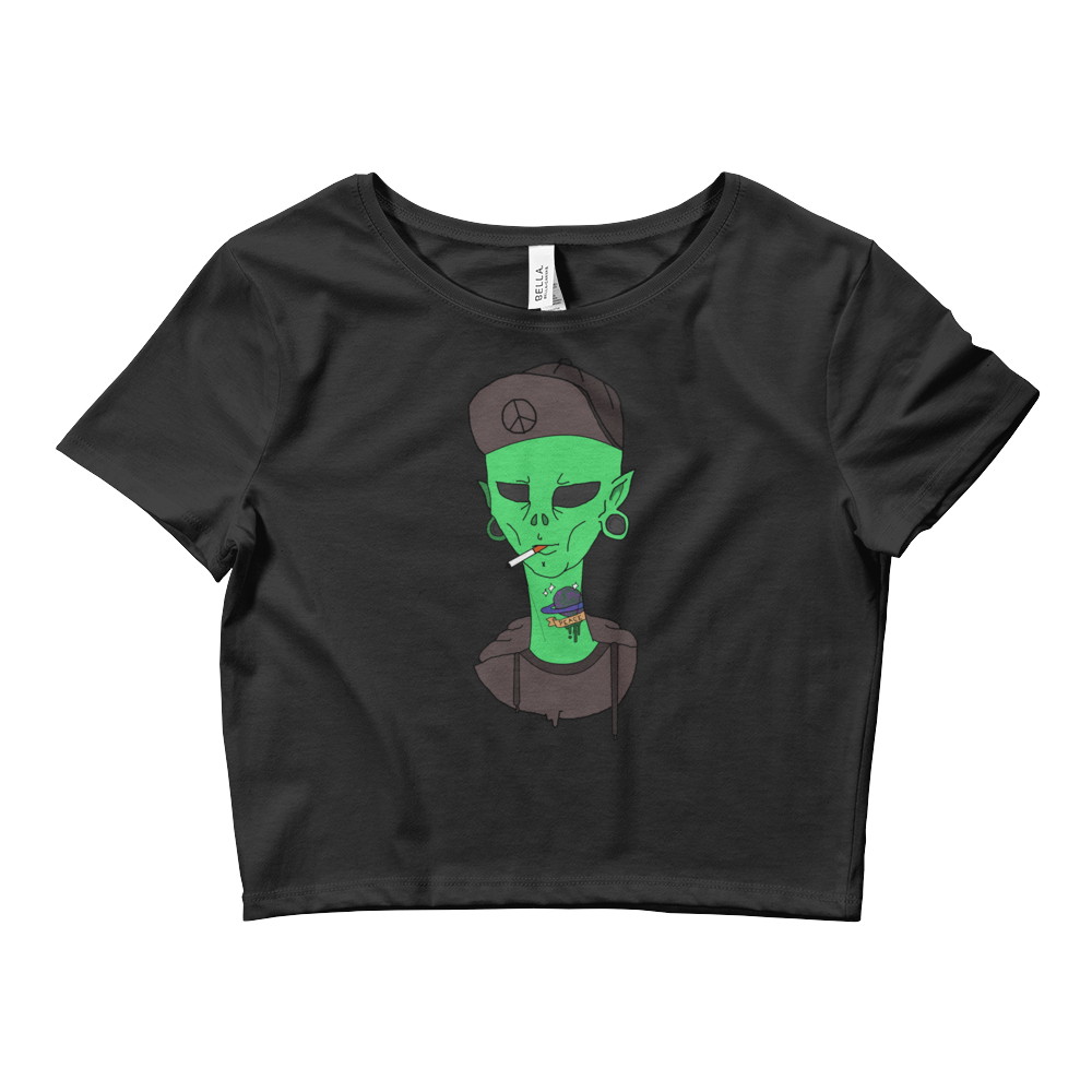 Smoking Alien Crop Top - PsyKoNot Apparel