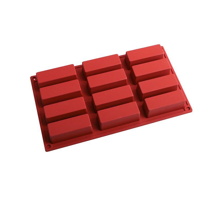 12 CAVITY SILICONE BAR MOULD- perfect for Financier Cakes
