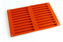 20 Cavity Straight Rectangle Bar Silicone Finger Mould
