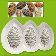 Trio Size Miniature Pinecone Mould