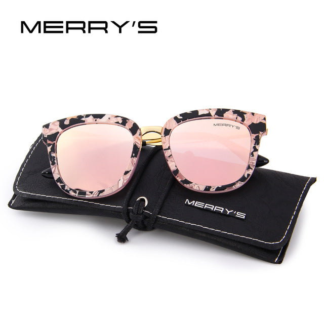 5b2dccb46b ... MERRY S Women Classic Cat Eye Polarized Sunglasses Fashion Sun Glasses  Metal Temple 100% UV Protection ...
