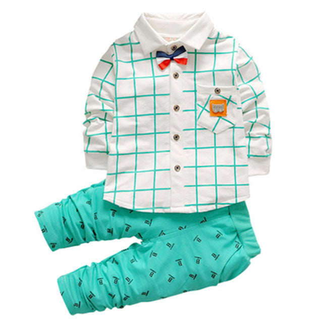 Gemtot 2017 New Fashion Kids Clothes Spring Baby Boys Clothing Sets
