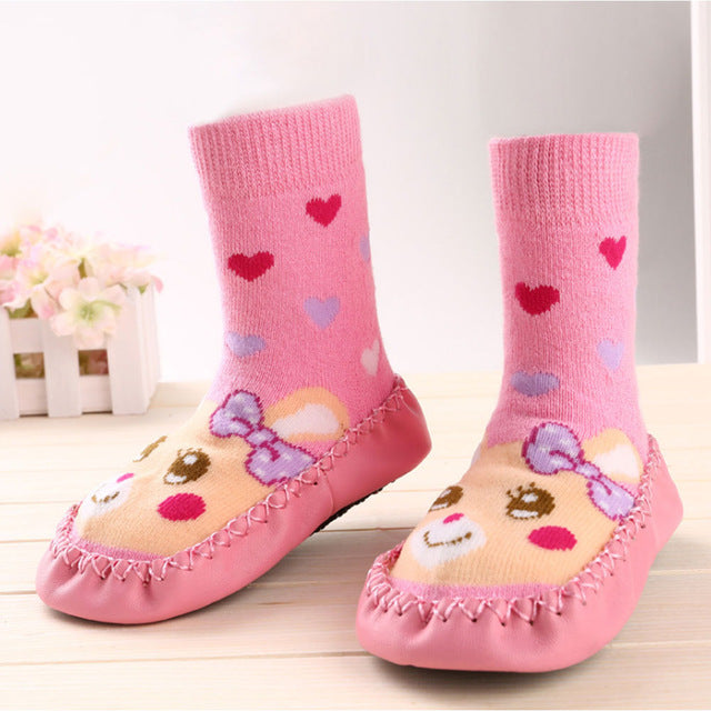 Touchcare Cartoon Rabbit Baby Socks Toddler Slippers Long Boots Warm