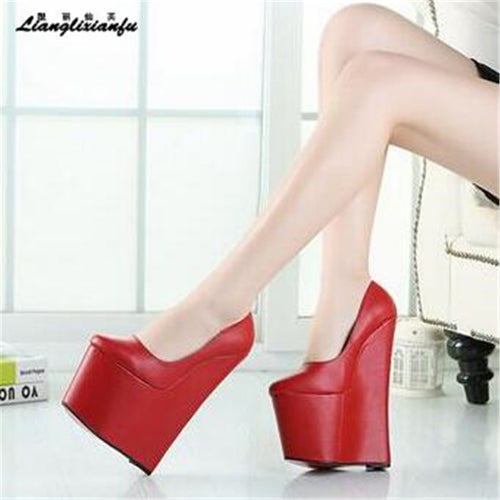 10cd1fe60d6 LLXF Crossdresser shoes 46 47 48 Brand dress Stiletto Platform Shoes Sexy  22cm Ultra High