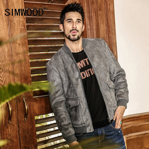 6c3690be093 SIMWOOD 2018 New Autumn Winter Bomber Jacket Mens Fashion Casual Coats  Brand Clothing WJ1653