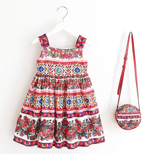 8bd6aae2f Girls Summer Dress with Bag 2018 Brand Toddler Girls Clothing ...