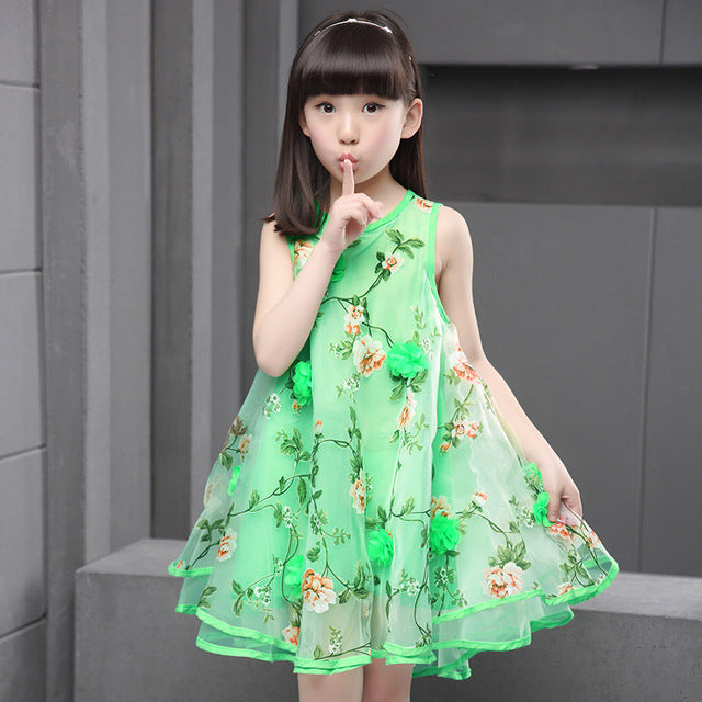 2018 Summer Clothes For Teen Girls Baby Kids 3d Flower Party Dress