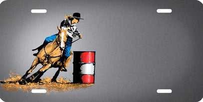 Barrel Racer - Auto Tag
