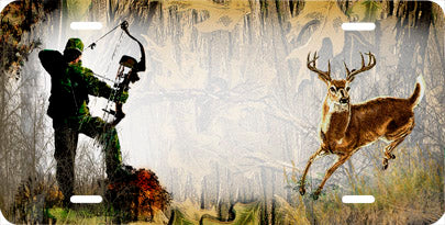 Bow Hunter and Deer Auto Tag
