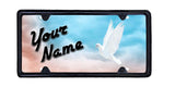 White Dove License Plate