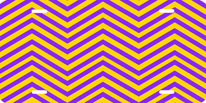 Chevron Pattern (purple/gold) Auto Tag