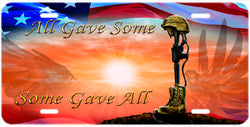 """Some Gave All"" Military Auto Tag"