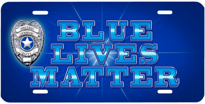 """Blue Lives Matter"" Auto Tag"
