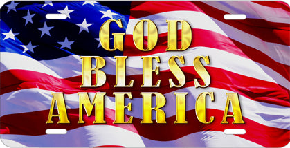 """God Bless America"" Auto Tag"