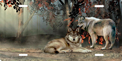 Two Wolves Auto Tag