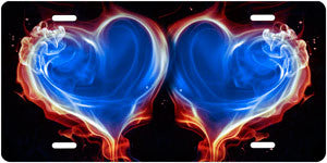 Blue Flaming Hearts - Auto Tag