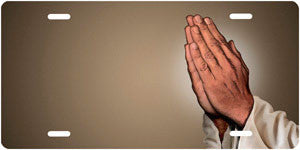 Praying Hands on Mocha Background