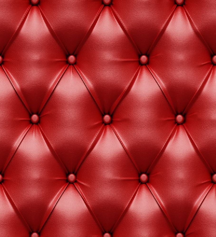 Leather cushion texture - 3d Faded Red Leather Cushion Pattern Wallpaper By Idiya Ltd