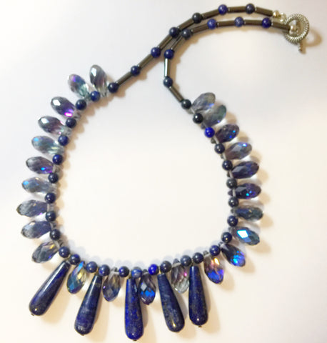 Lapis Hemetite  one of a kind wearable art