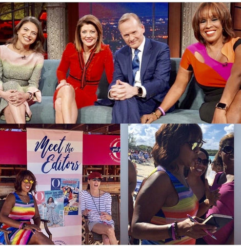 Gayle King, wearing the King and I Bracelet I made her.