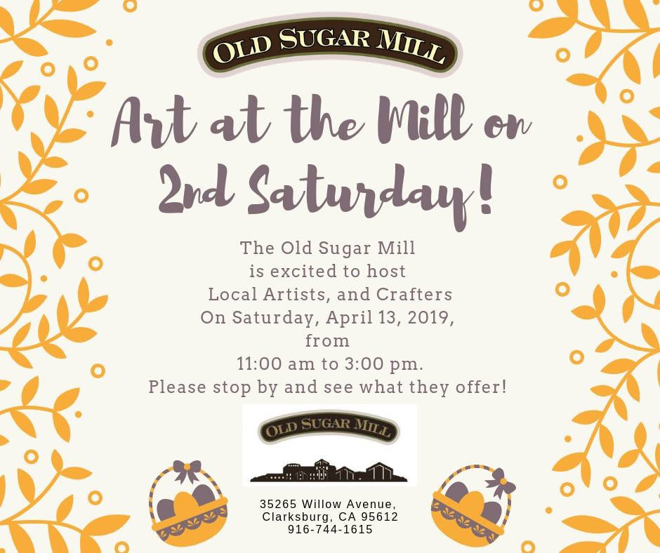 April 13, 11am -3pm.... 2nd Saturday Event - Local Artist - Come grab your one of kind Mothers Day Gifts!