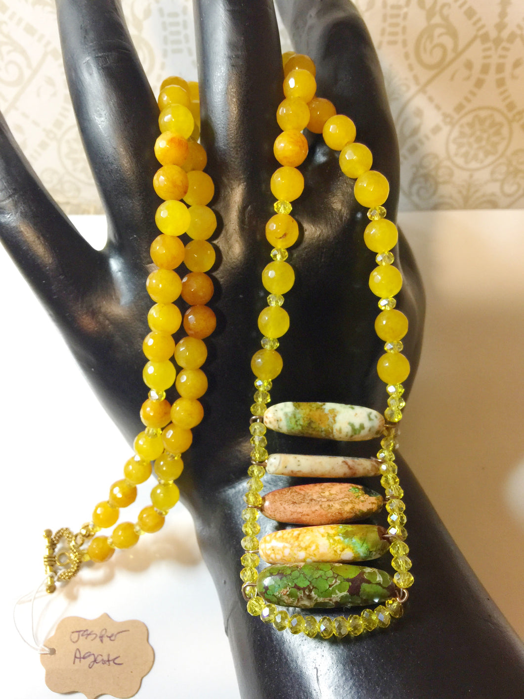 BOHEMIAN IN ME - Necklace- Earrings - Jasper - Agate - Set