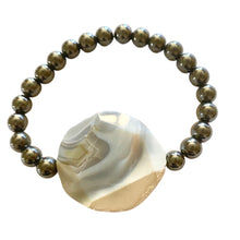 Load image into Gallery viewer, KING & I - Bracelet - Hematite - Botswana Agate