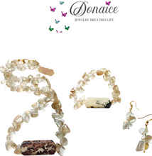 Load image into Gallery viewer, BOHEMIAN IN ME - Jasper - Rutilated Quartz- Necklace - Bracelet - Earrings - Set