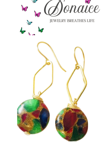 Earrings - Agate