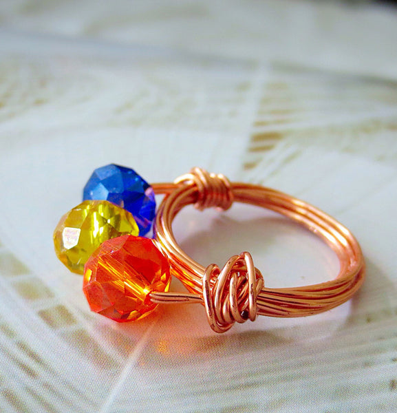 Ring #FRUIT OF THE SPIRIT - Crystals- Wire Wrap