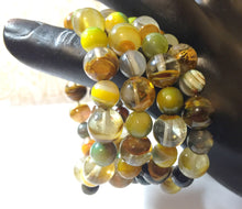 Load image into Gallery viewer, Bracelet - Bangle Life - Agate, Honey Tigers Eye