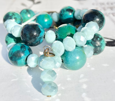 Bracelet  - Bangle Life - Chrysocolla