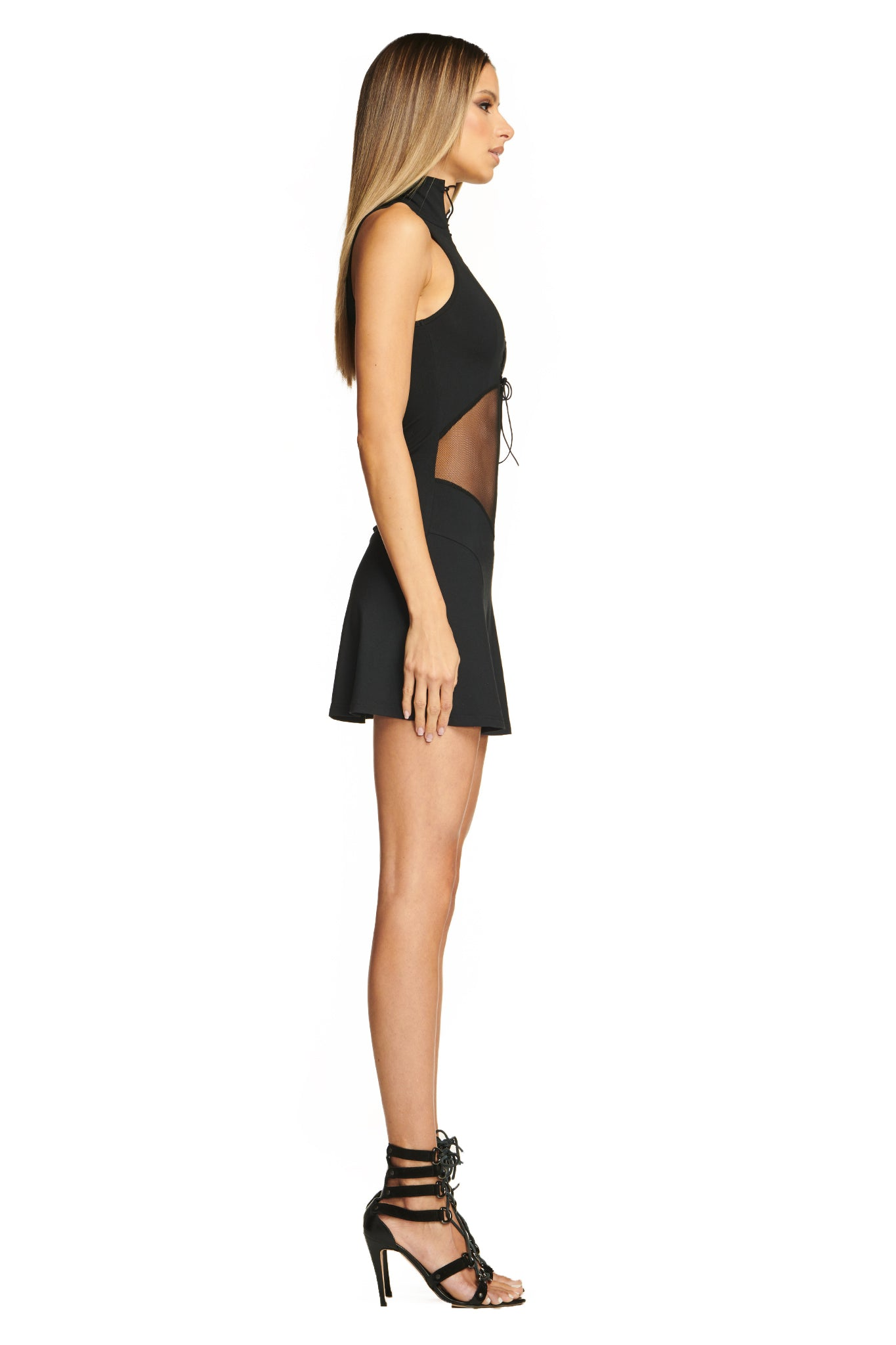 LASSONA MINI DRESS - BLACK