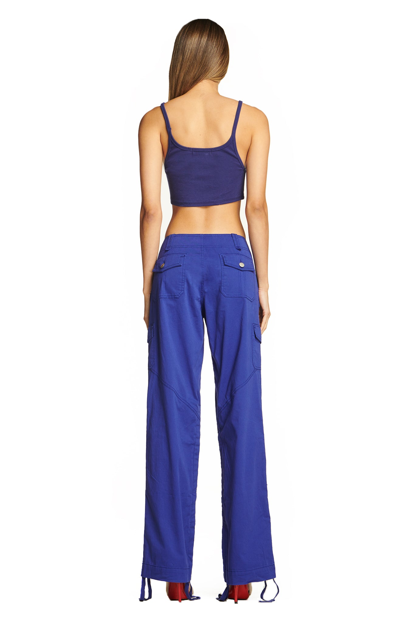 ELIA CROP SINGLET - DEEP BLUE