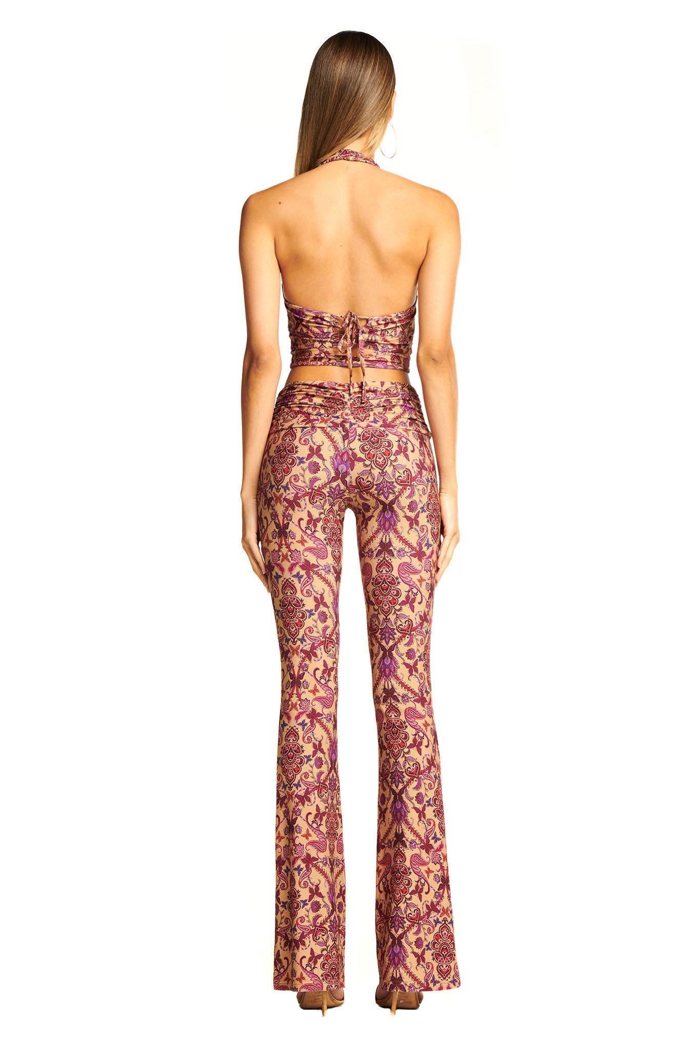 CIRCE PANT - TAN PAISLEY